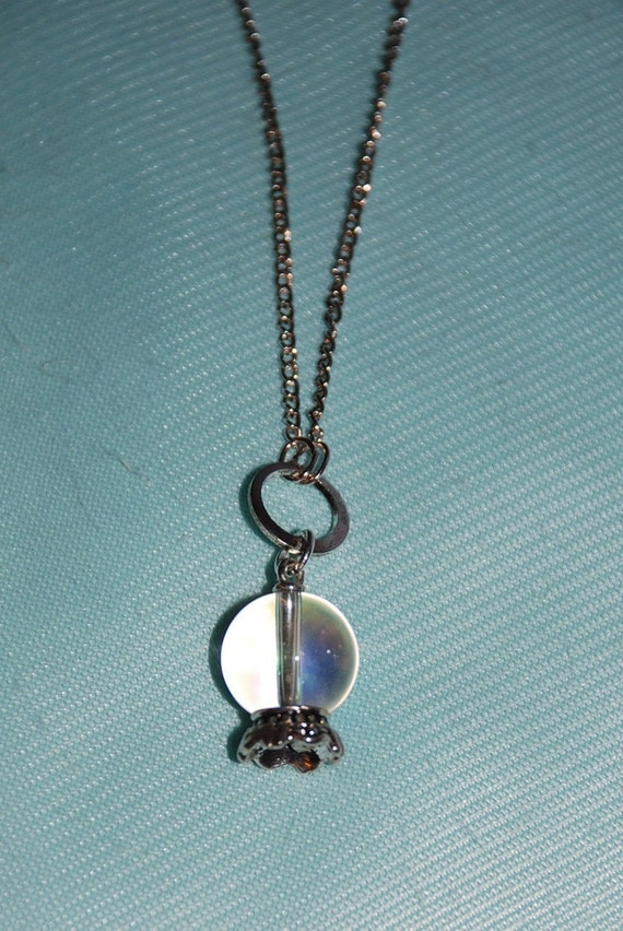 Crystal Ball Delicate Necklace LONG  -Great Holiday Gift-