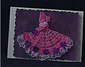 Crinoline Lady Crochet Greeting\/Note Card