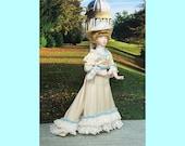Dollhouse Doll, Miniature Edwardian Lady,  12th Scale Porcelain dolls house doll