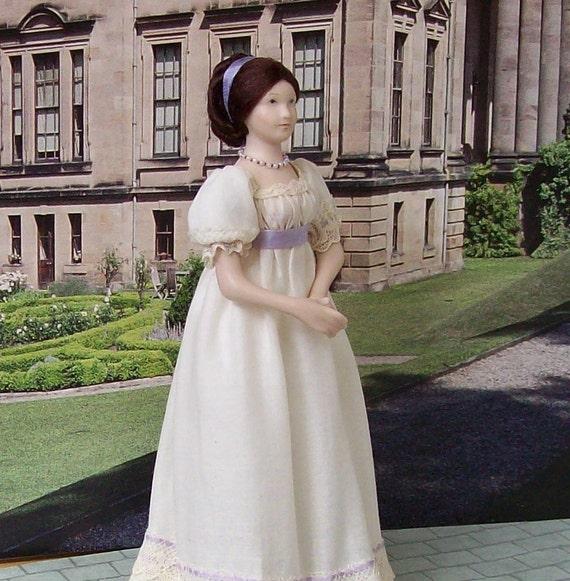 Miniature doll, a 12th Scale Regency Lady  Dollhouse Doll made by Tiggy IGMA Artisan