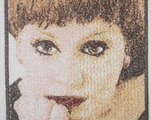 Adele Thread Art applique -ready to ship stitch out on 100% cotton