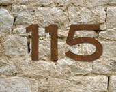 Set of 2 Rustic House Numbers or Letters / 2 Inch up to 8 Inch / Initials / Metal / Wall Hanging / Address / Custom / Office
