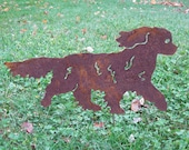 Cavalier King Charles Spaniel Garden Stake or Wall Hanging / Pet Memorial / Garden Decor / Dog / Shadow / Spike / Metal / Silhouette