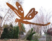 Dragonfly Garden Stake / Garden Decor / Yard Art / Rustic Decor / Garden Art / Outdoor Garden Decor / Metal Garden Art / Lawn Ornament