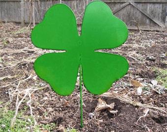 Shamrock Garden Stake, Saint Patrick's Day, Clover, Wall, Garden Art, Garden Decor, Metal, Yard Art, Lawn Ornament, Wall Art, outdoor