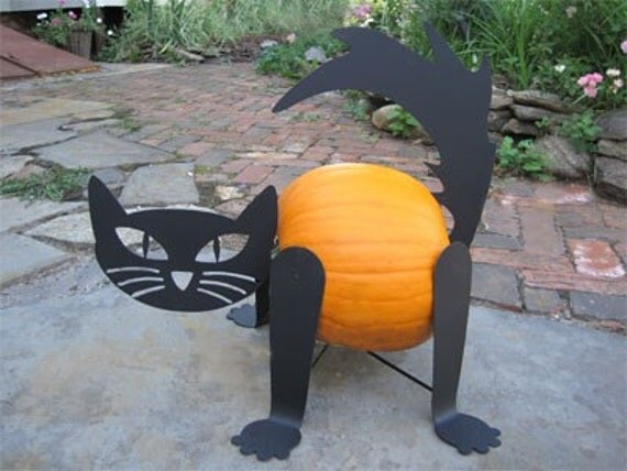 Pumpkin Cat Kit (Turn your pumpkin into a cat) / Scary Cat / Halloween Cat Decoration / Scary Ghost Cat  / Halloween Cat Garden Decor