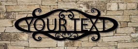 Personalized Welcome Sign 24 Inch Custom Wall Art Name