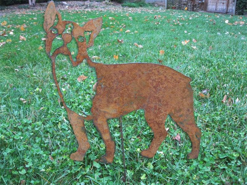Boston Terrier Garden Stake Or Wall Hanging Memorial Pet