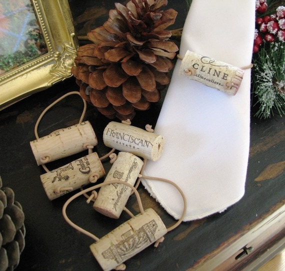 dinner at the vineyard wine cork napkin by sublimehousewarming
