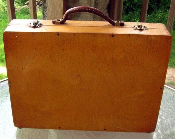 Vintage Oak Seed Case Sample Salesman