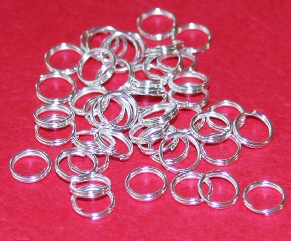 RESERVED LISTING Silver Plated Split Rings 6mm