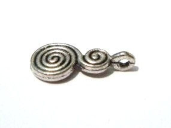 Double Spiral Glue on Bails ((40pcs) )-SALE-