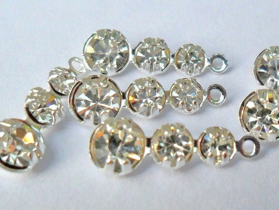 Vintage Style rhinestone drops  ((10pcs))