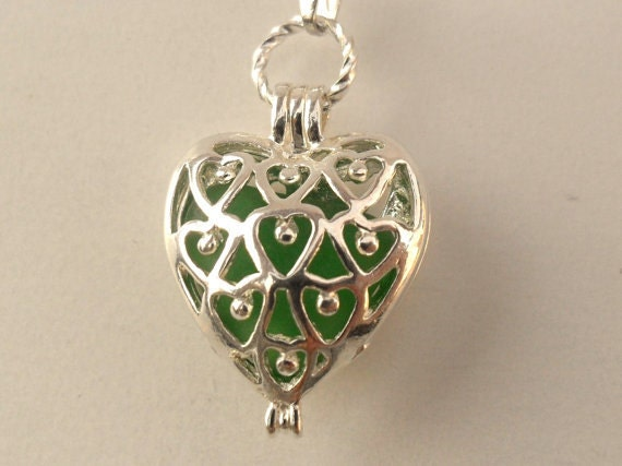 Heart cut out Locket Reversible