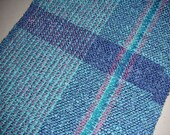 WINTER CLEARANCE UNTIL JANUARY 26  HANDWOVEN SCARF- Multi Color - Blue