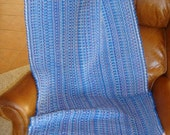 HOLIDAY SALE PRICE 13.00 OFF HANDWOVEN RAG RUG- BLUE