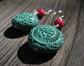 Asian Cinnabar Earrings