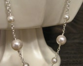 Angela Sterling Silver Pearl Necklace