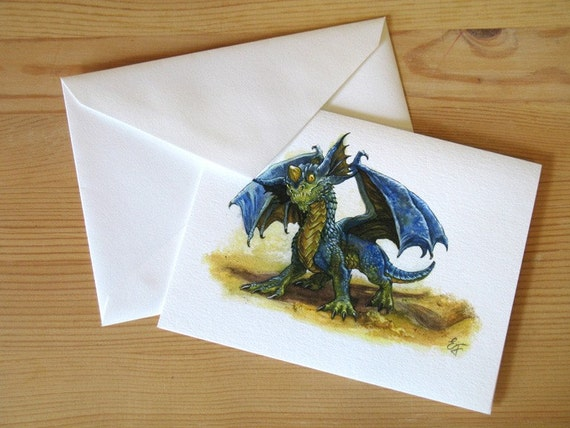 Baby Dragon Note Cards