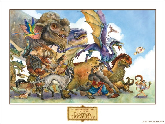 The Explorer's Guide to Drawing Fantasy Creatures Poster