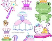 My Princess Digital Printable Collage Clip art collection sheet 10078
