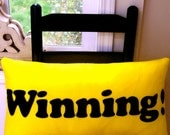 Winning - 12 x 24 inch felt pillow