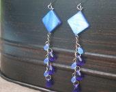 Blue bead dangle