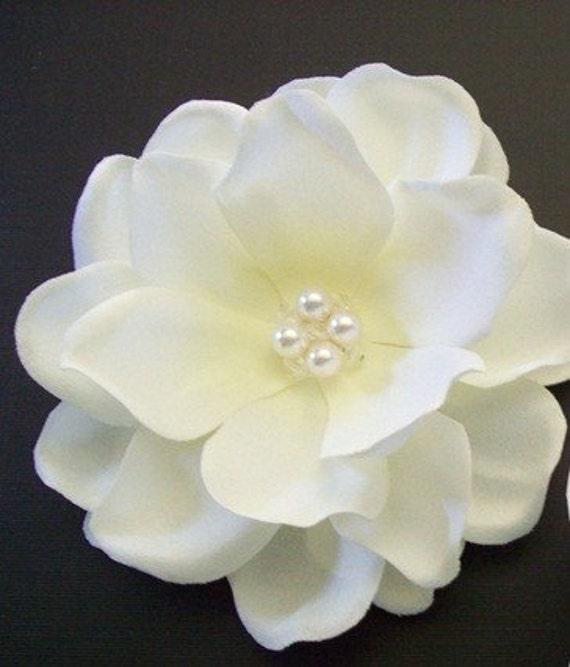 CUSTOM MADE-------  Wedding Bridal Hair Accessory / Ivory / Bridal Hair Flower Headpiece Swarovski Crystals Swarovski Pearls