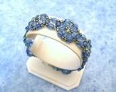 Blue Crystal Bracelet woven with Swarovski in Sapphire