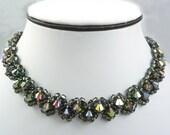 Crystal Choker Necklace, Stunning Vitrail Swarovski