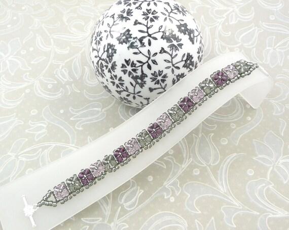 Amethyst Tennis Bracelet made with Swarovski