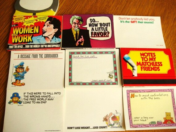 Post It Note Collections from 1980's - 10  Note Pads