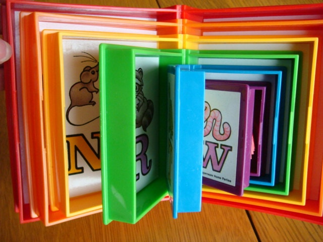 Tupperware Toys Nesting Stackable Alphabet Books With Book