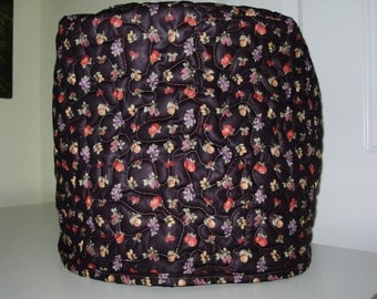 Quilted stand mixer cover - small fruit pattern