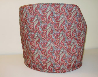 Stand mixer cover quilted paisley print