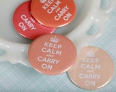 Decorative Magnets Keep Calm and Carry On in Peach