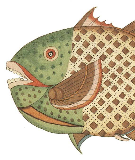 Wooden jigsaw puzzle.  FANCY FISH 3. Renard. Wood, handcut, handcrafted, collectible. Bella Puzzles.
