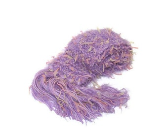 Sale Lilac Blast Hand Knit Scarf Lavender
