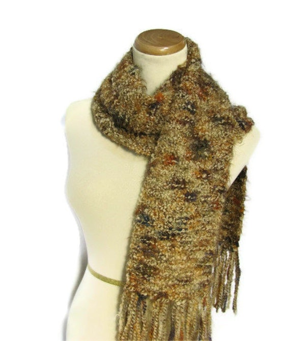 Spiced Up Hand Knit Scarf - One of a Kind