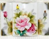 Victorian Style Trinket Box Handpainted Floral Porcelain