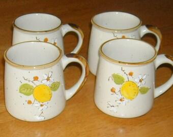 Vintage Coffee Tea Mugs  Hot Beverage Fruit