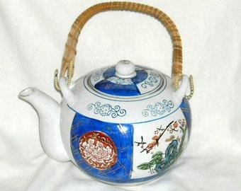 Vintage Teapot Soup Bowls Imari Japanese Soup Spoons