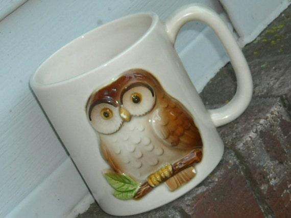 Vintage Owl Mug / Otagiri Mug / 1980s / Porcelain / Coffee / Tea RESERVED FOR EMILY