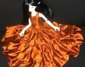 Custom BJD Ball Joint Doll Silk Dupioni Three Layer Dress MSD 42cm