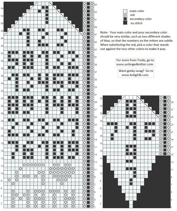 Fibonacci Mittens (i heart math)
