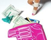 Pink Gun Money Bag