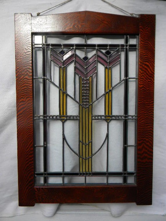 Craftsman Stained Glass Window