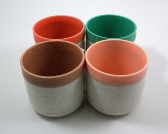 Vintage Pastel Therm-o Coffee Cups