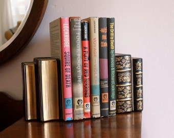 Hand Painted Poet Bookends