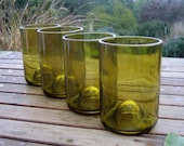 Upcycled Recycled Glass Wine Bottle Tumblers made from reclaimed wine bottles